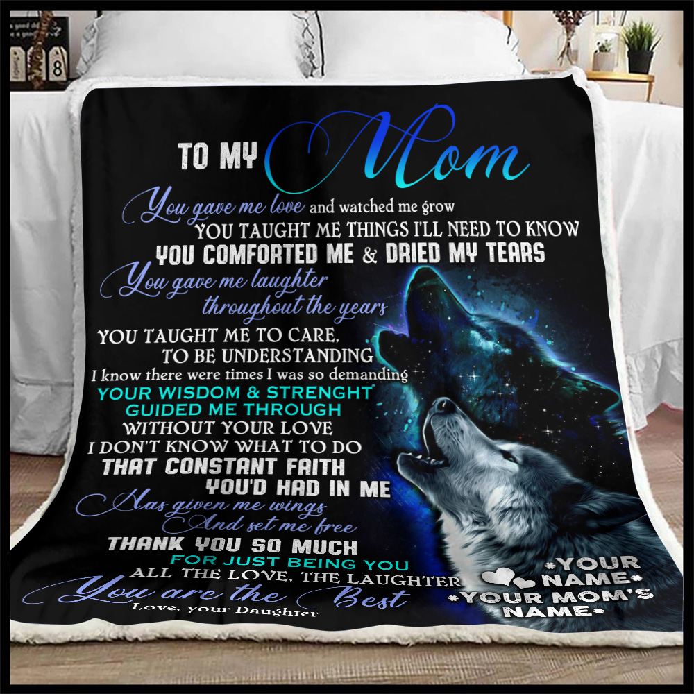Personalized Lovely Fleece Throw Blanket To My Mom You Are The Best Pattern 1 Lightweight Super Soft Cozy For Decorative Couch Sofa Bed