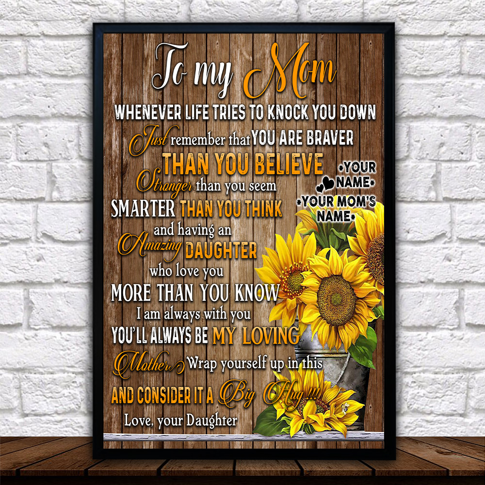 Personalized Lovely Wall Art Poster To My Mom I Am Always With You Pattern 2 Prints Decoracion Wall Art Picture Living Room Wall