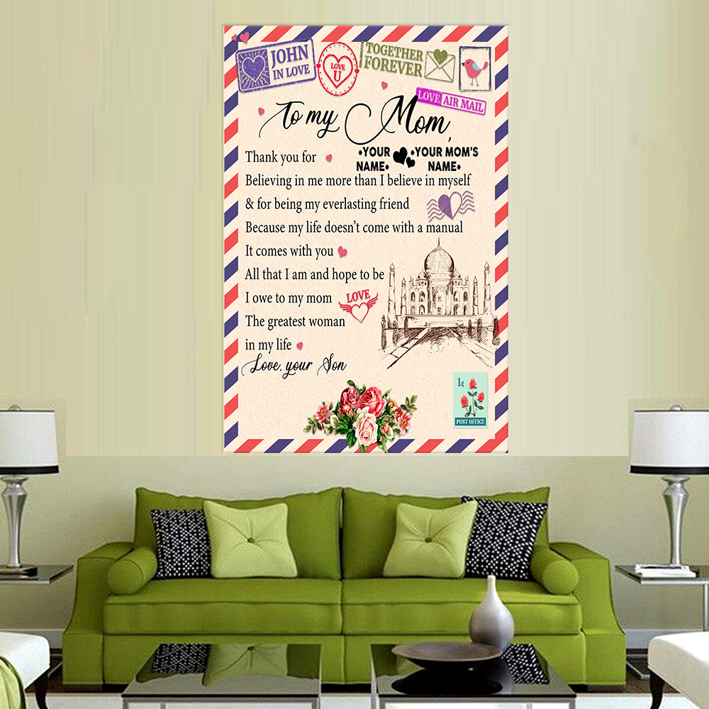 Personalized Lovely Wall Art Poster To My Mom Thank You For Believing Me Pattern 1 Prints Decoracion Wall Art Picture Living Room Wall