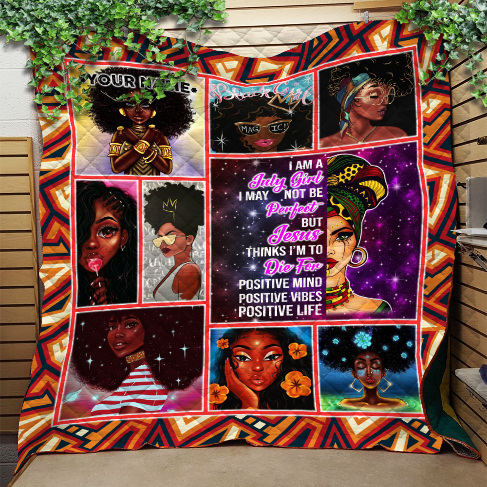 Personalized Quilt Throw Blanket July Girl May Not Be Perfect But Jesus Think To Die For Pattern 2 Lightweight Super Soft Cozy For Decorative Couch Sofa Bed