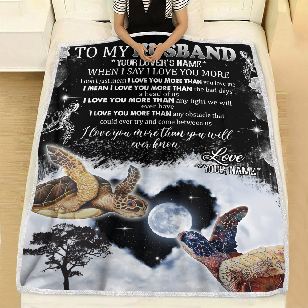 Personalized Fleece Throw Blanket To My Husband I Love You More Than You Will Ever Know  Pattern 1 Lightweight Super Soft Cozy For Decorative Couch Sofa Bed