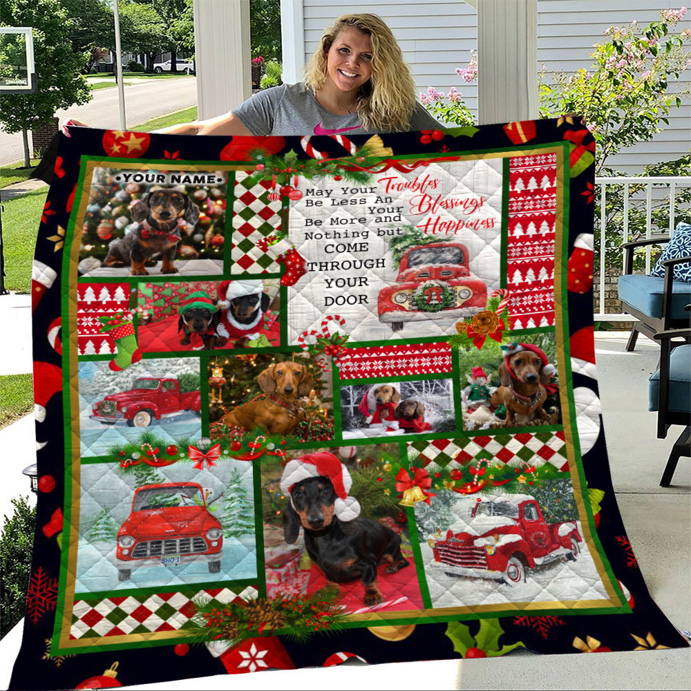 Personalized Quilt Throw Blanket Nothing But Happiness Come Through Your Door Pattern 1 Lightweight Super Soft Cozy For Decorative Couch Sofa Bed