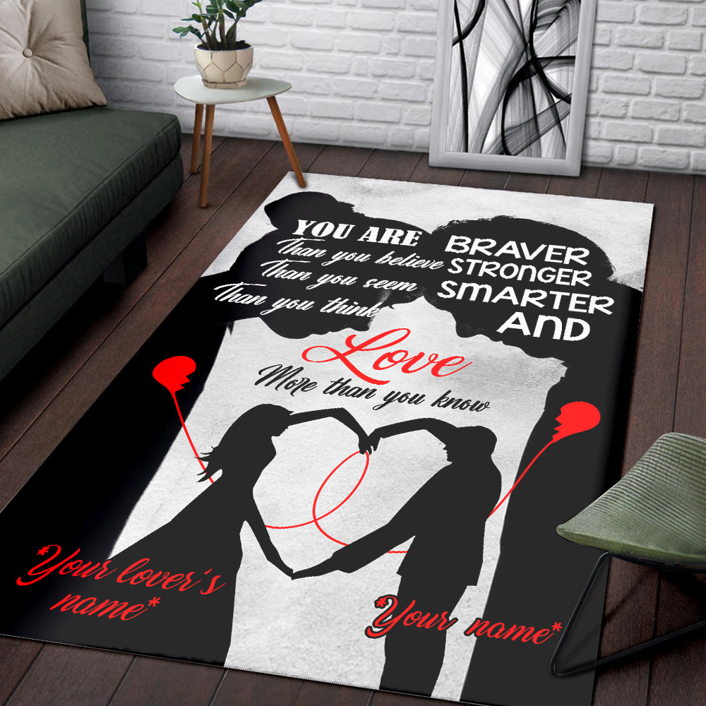 Personalized Floor Area Rugs You Are Braver Than You Believe Stronger Pattern 1 Indoor Home Decor Carpets Suitable For Children Living Room Bedroom Birthday Christmas Aniversary
