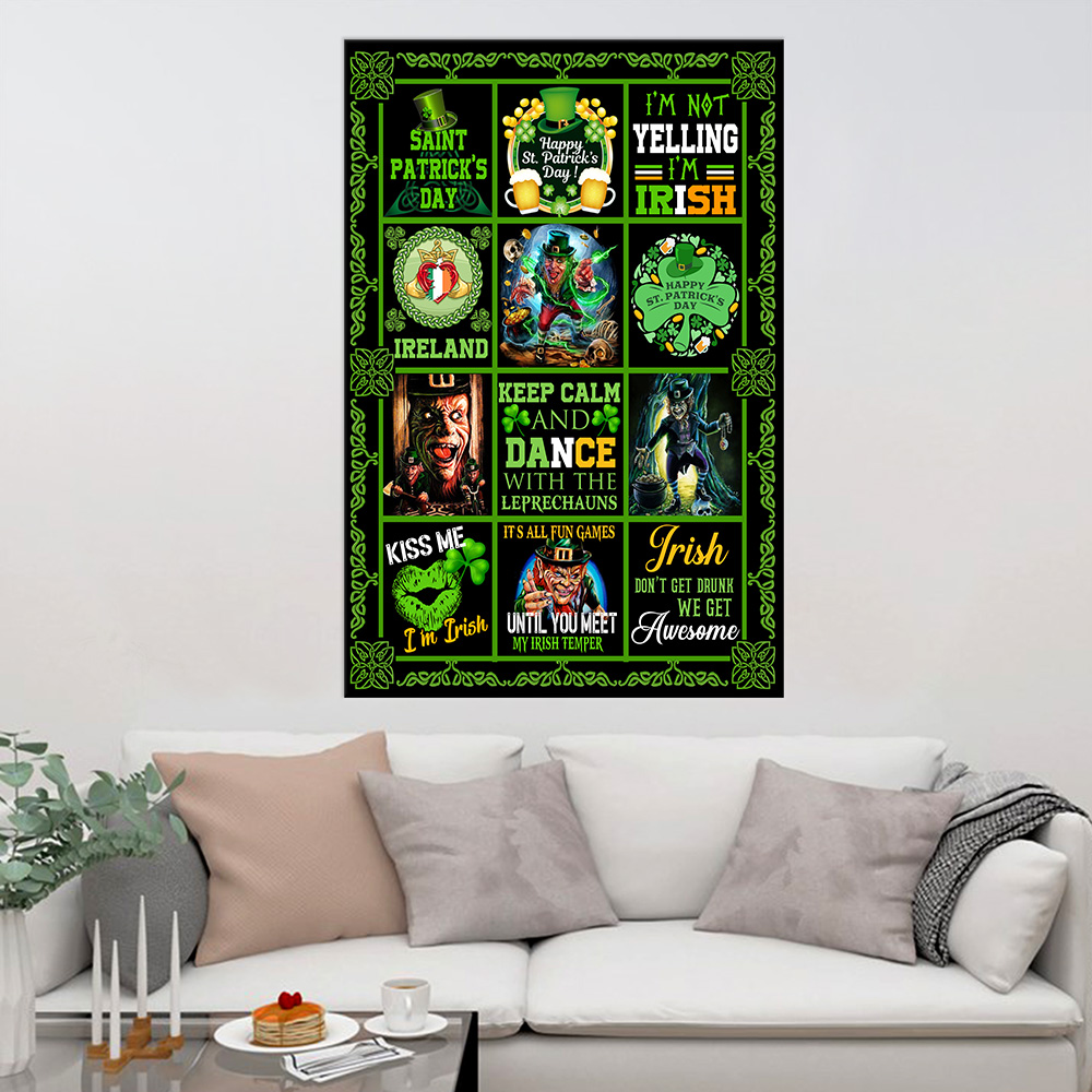 Personalized Lovely Wall Art Poster St Patrick's Day Keep Calm And Dance With Leprechaun Pattern 1 Prints Decoracion Wall Art Picture Living Room Wall