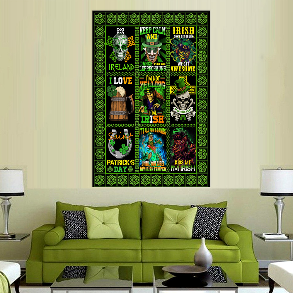 Personalized Lovely Wall Art Poster St Patrick's Day Keep Calm And Dance With Leprechaun Pattern 2 Prints Decoracion Wall Art Picture Living Room Wall