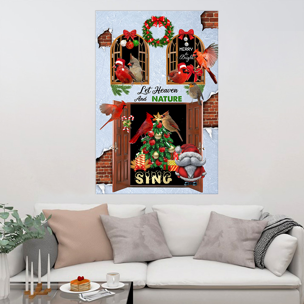 Personalized Wall Art Poster Let Heaven And Nature Sing Pattern 2 Prints Decoracion Wall Art Picture Living Room Wall