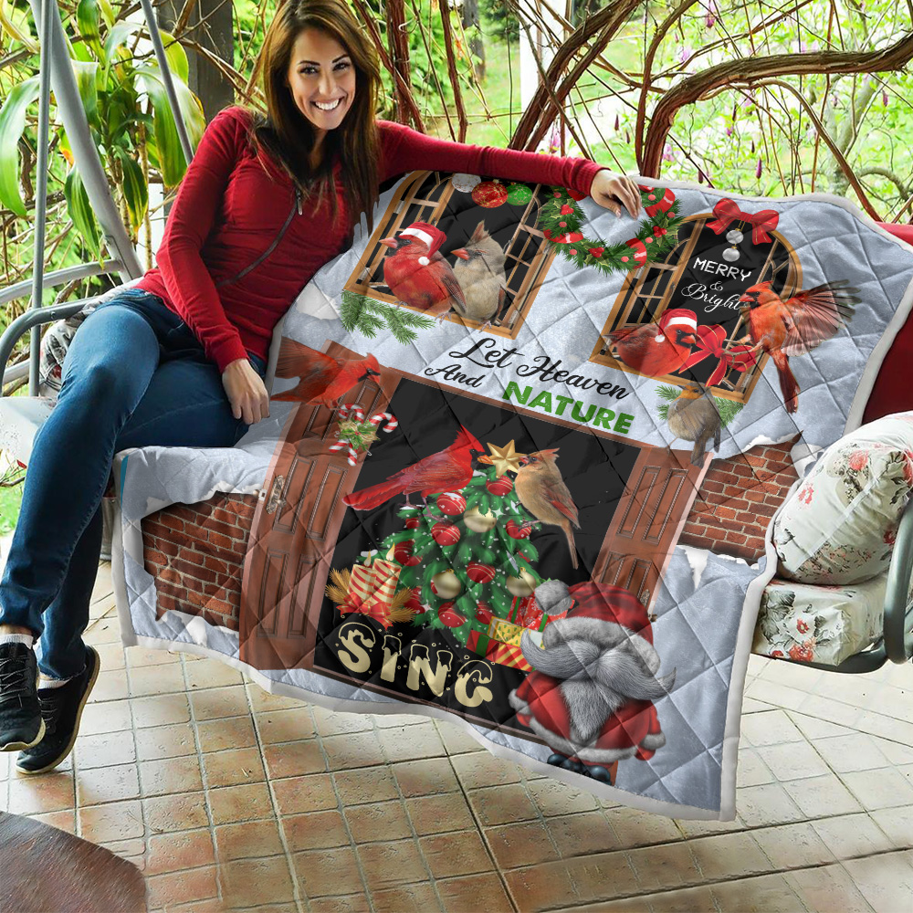Personalized Quilt Throw Blanket Let Heaven And Nature Sing Pattern 2 Lightweight Super Soft Cozy For Decorative Couch Sofa Bed