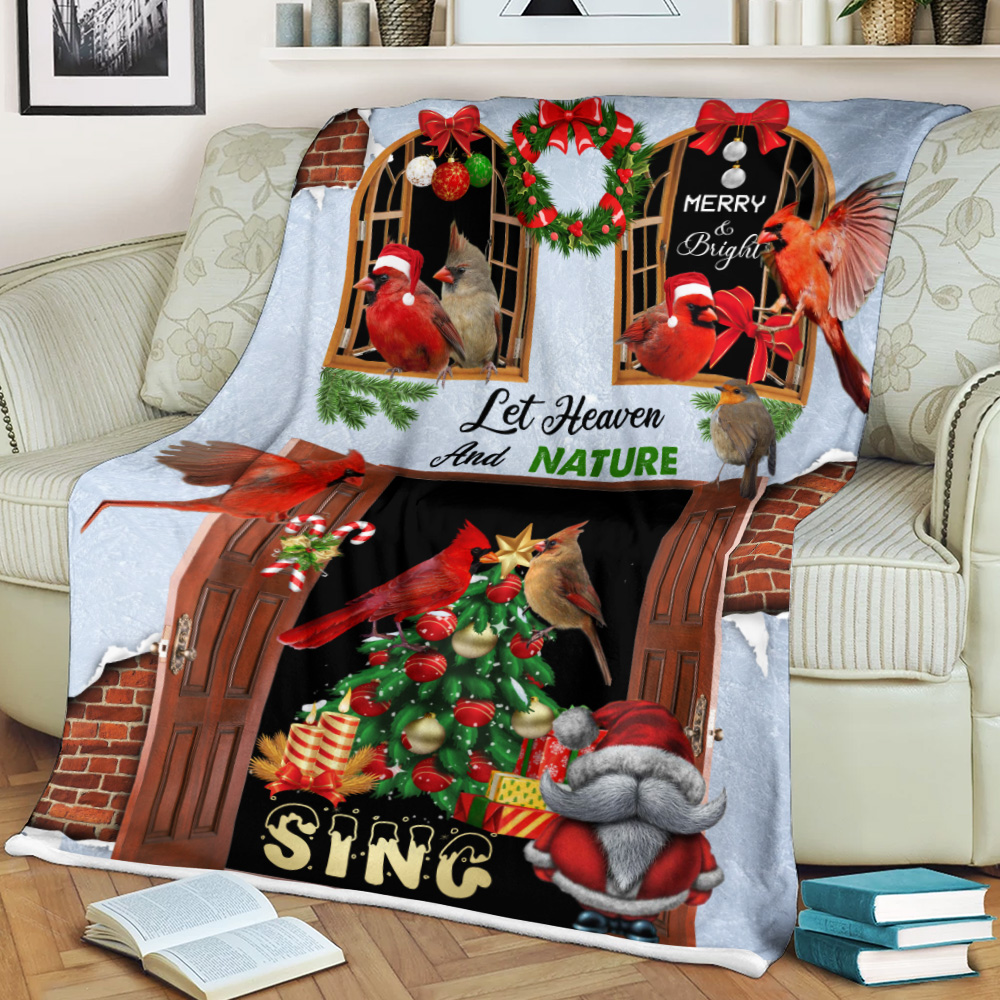 Personalized Fleece Throw Blanket Let Heaven And Nature Sing Pattern 2 Lightweight Super Soft Cozy For Decorative Couch Sofa Bed