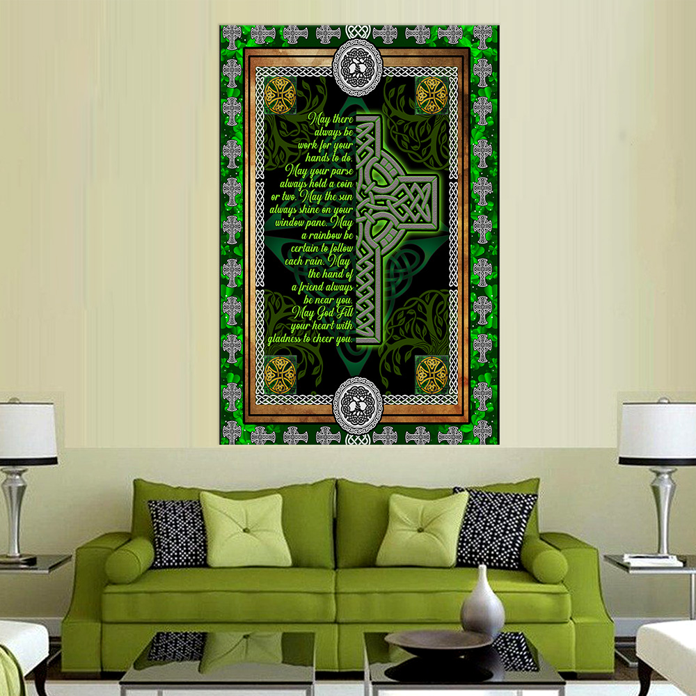 Personalized Lovely Wall Art Poster St Patrick's Day Irish May God Fill Your Heart With Gladness Pattern 1 Prints Decoracion Wall Art Picture Living Room Wall