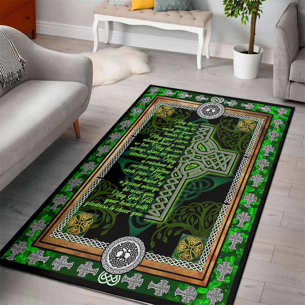 Personalized Lovely Fleece Throw Blanket St Patrick's Day Irish May God Fill Your Heart With Gladness Pattern 1 Lightweight Super Soft Cozy For Decorative Couch Sofa Bed