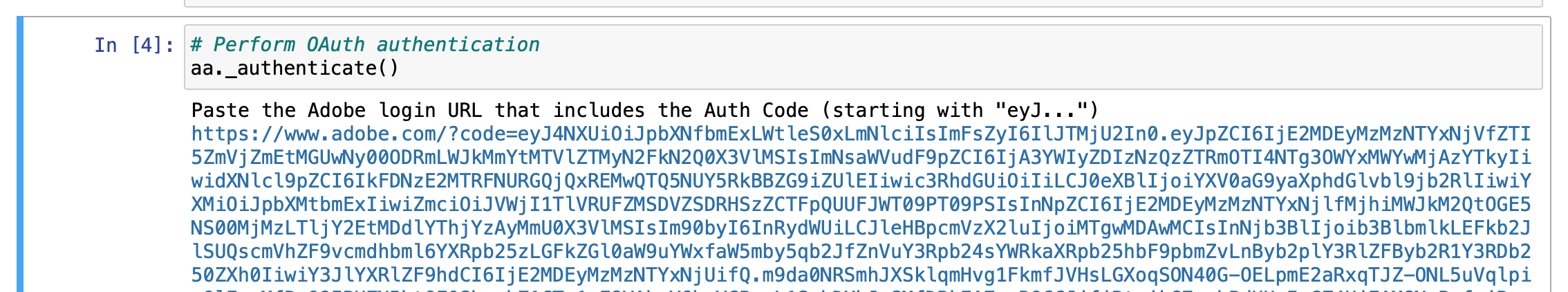 completing oauth authentication