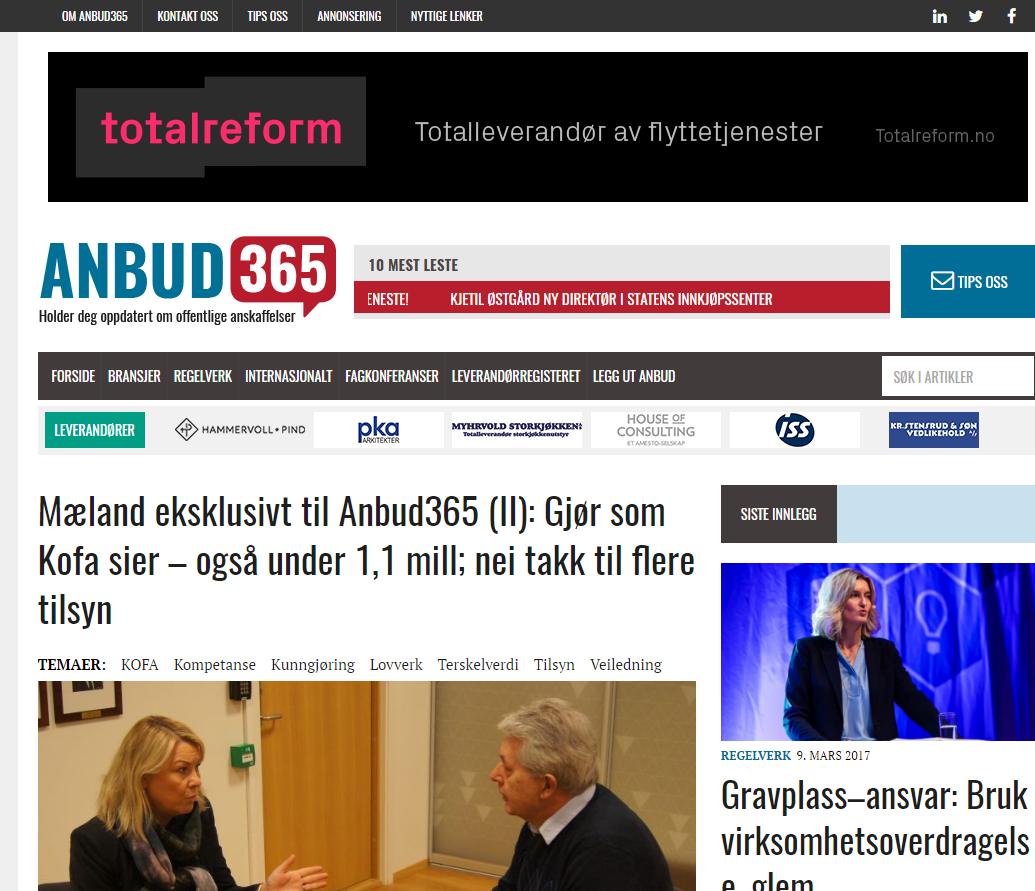 Anbud365: Anbud365 har en viktig rolle i det offentlige anskaffelsesmarkedet