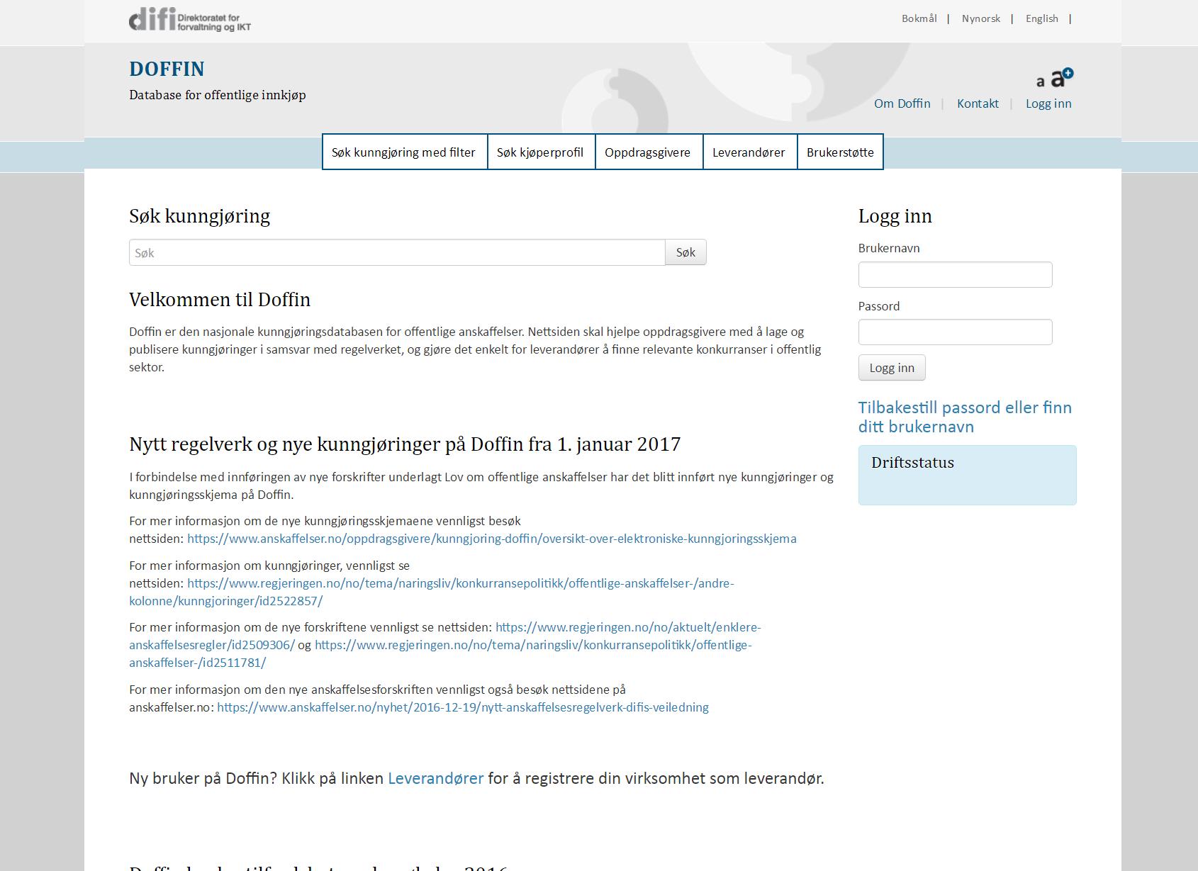 Anbud365: Nedgang i obligatoriske kunngjøringer hittil i år, frivillige på vei opp