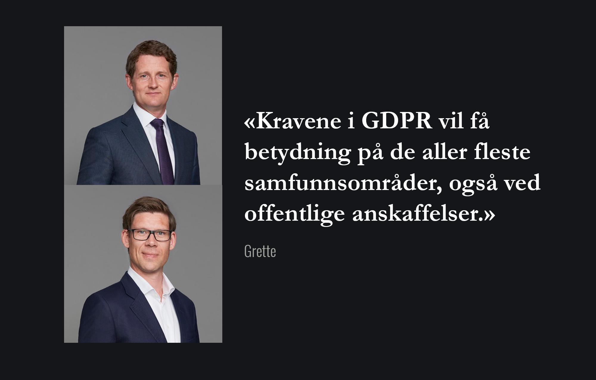 Anbud365: GDPR og bruk av konkurransegjennomføringsverktøy