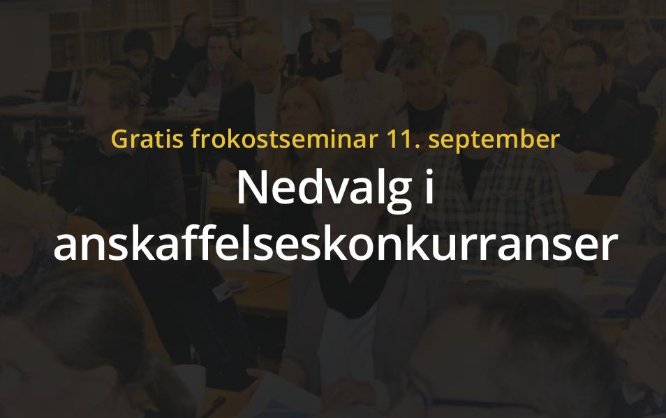 Anbud365: Nytt Anbud365-seminar: Slik reduserer du trygt antall tilbud ved forhandling og dialog