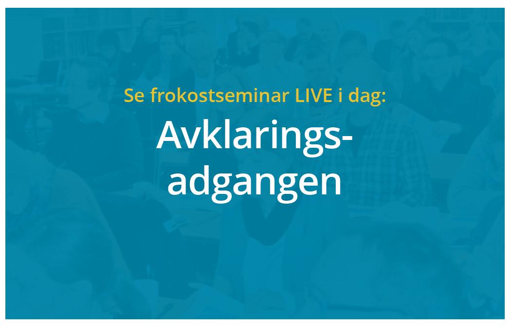 Anbud365: Følg dagens Anbud365-seminar fra kl. 0900- 1100 på LIVE streaming