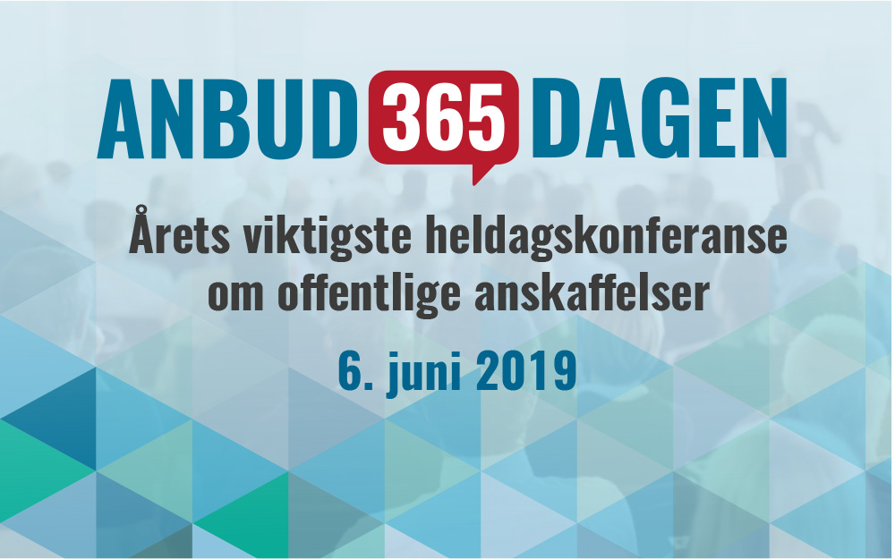 Anbud365: Anbud365-dagen - fortsatt er det ledige plasser, meld deg på!