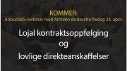 Anbud365: Klart for korona-aktuelt Anbud365-webinar