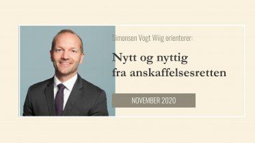 Anbud365: Nytt og Nyttig fra anskaffelsesretten - november 2020