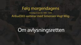 Anbud365: I morgen braker det løs Nytt gratis Anbud365-webinar