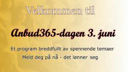 Anbud365: Anbud365-dagen 3. juni – sjekk programmet og meld deg på, det lønner seg!