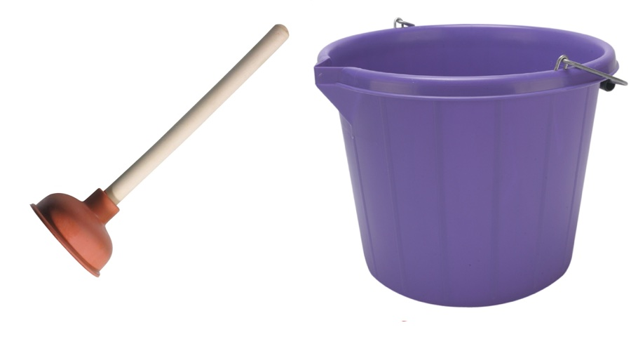 tools needed for bucket and pluger laundry method