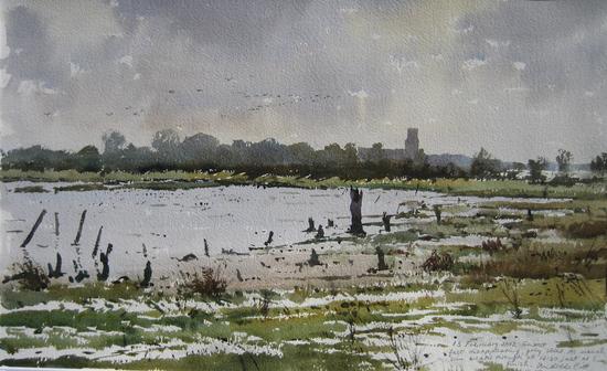Feeding on the Mudflats, Blythburgh