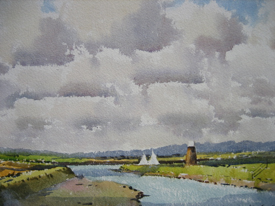Sunlight and Cloud Shadows on the River Blyth