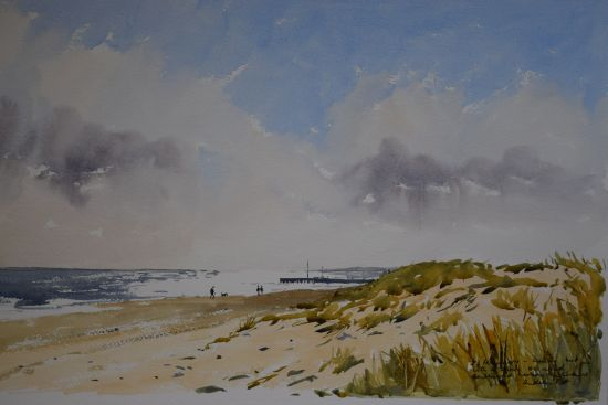 Southwold Harbour Entrance from the Dunes