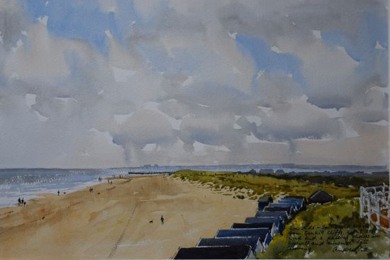 Southwold Beach from the Cliffs