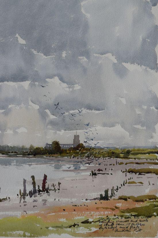 Blythburgh Church on a Cloudy Day