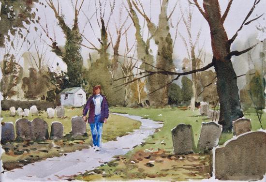 In a Suffolk Churchyard