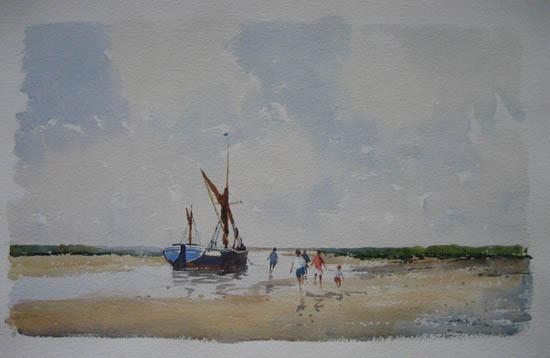 Barge on the East Coast