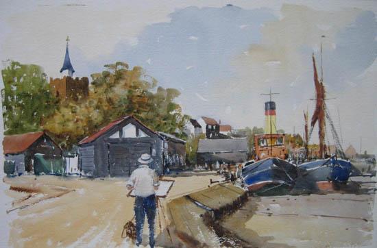 Painting at Maldon