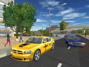 Hra na mobil Taxi game 2