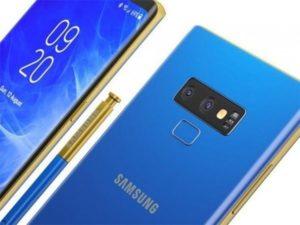 Samsung Galaxy Note 9 rendery