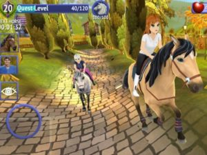 Hra na mobil Horse riding tales