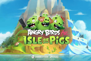Hra na mobil Angry Birds AR: Isle of Pigs