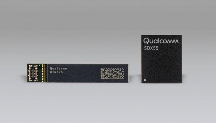 Snapdragon 865 a X55 modem