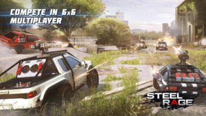 Hra na mobil Steel Rage: Robot Cars PvP Shooter Warfare