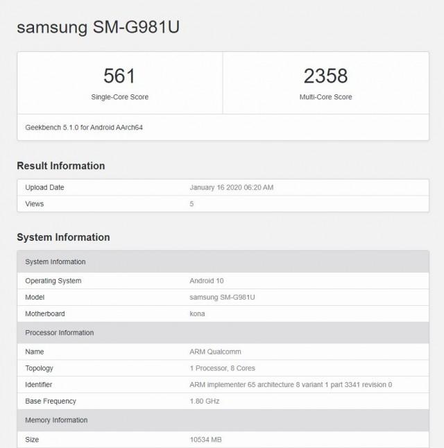 5G telefon Galaxy S20