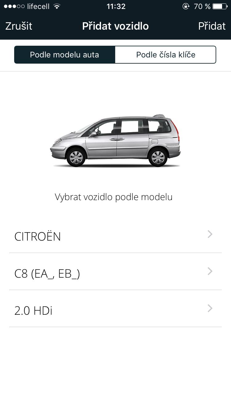 Výběr automobilu