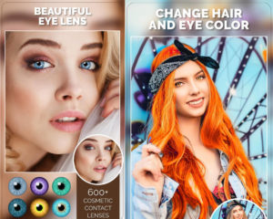 Aplikace na mobil Change Hair And Eye Color
