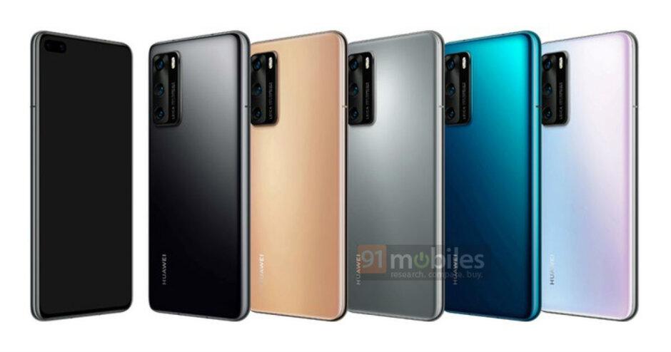 Huawei P40 barvy