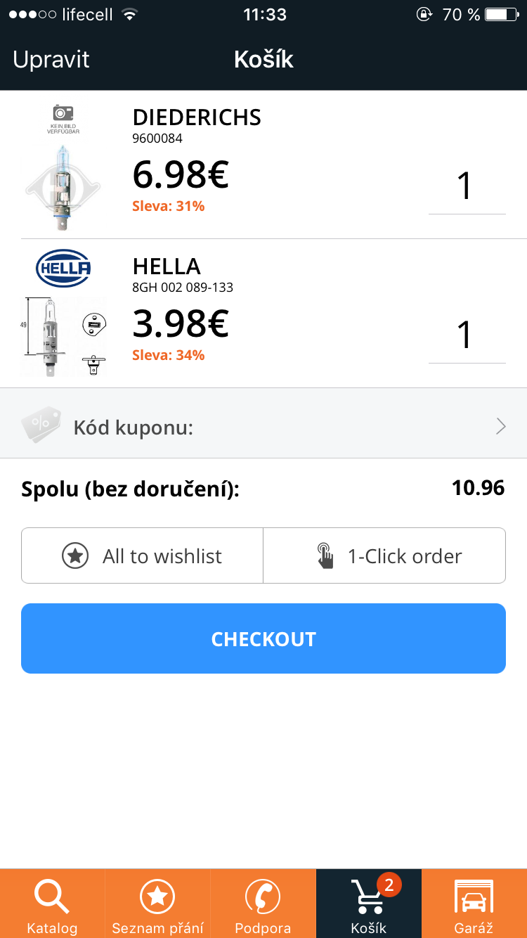 Jednoduchý nákup