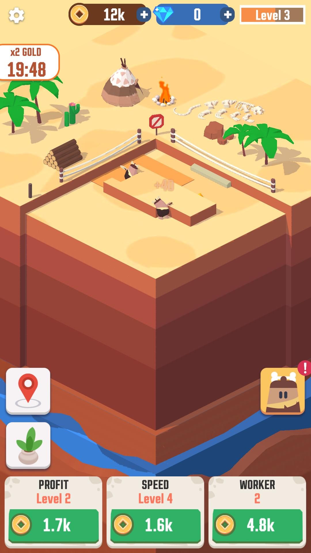 Android hra Idle Digging Tycoon