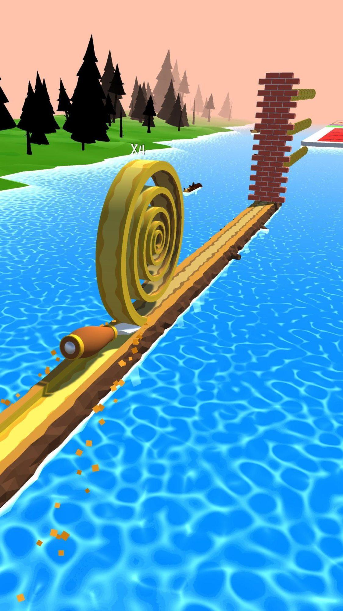 Hra na mobil Spiral Roll