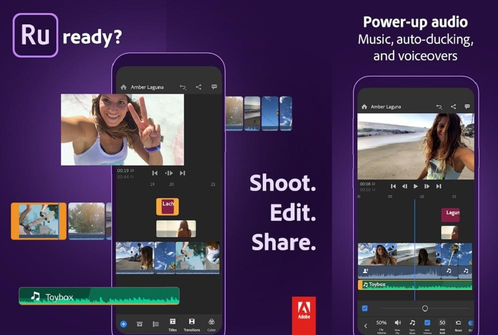 Aplikace Adobe Premiere Rush — Video Editor