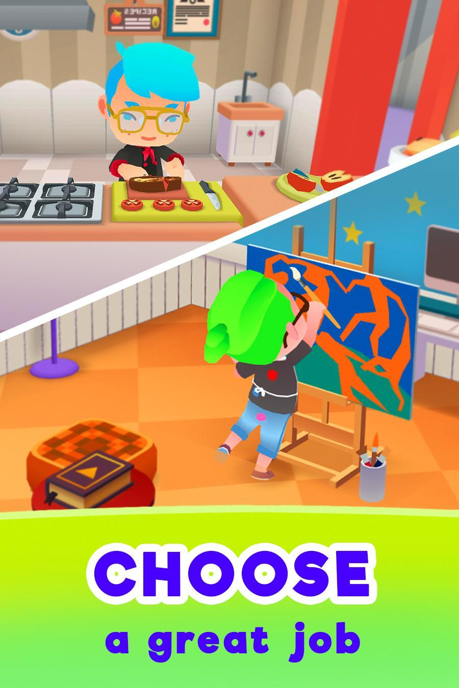 Hra na mobil Idle Life