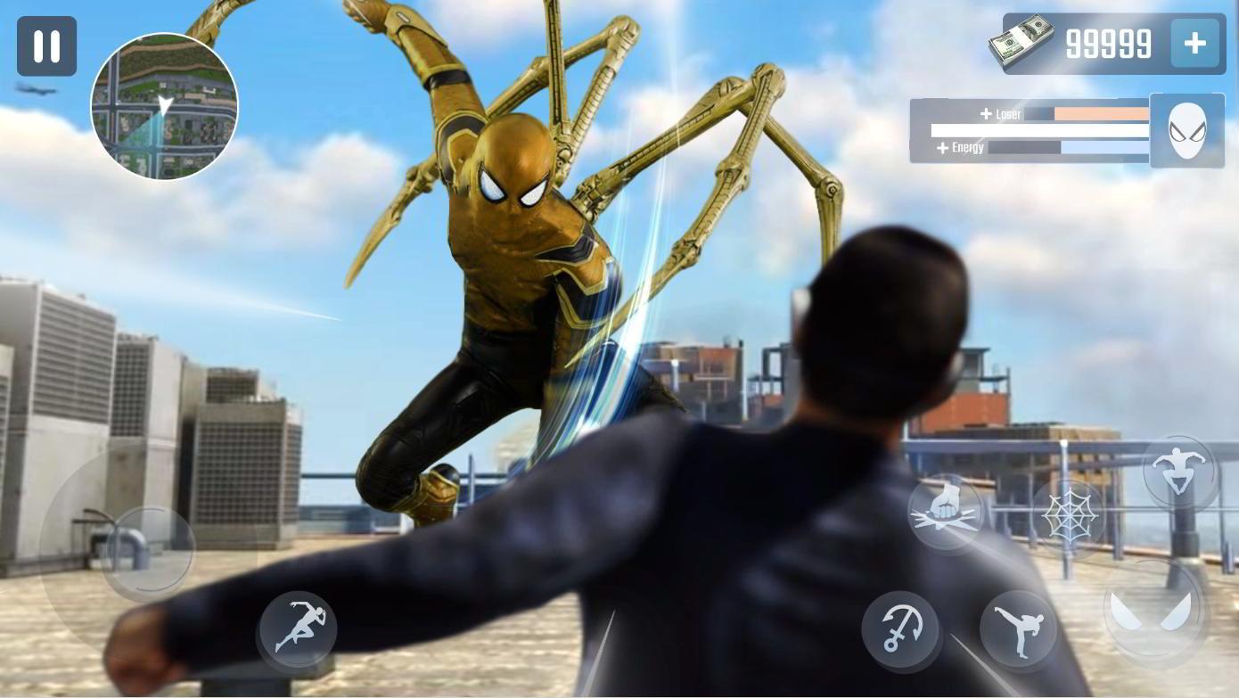 Hra na mobil Spider Rope Hero